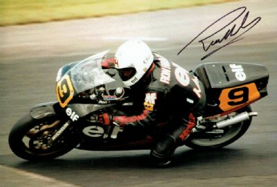 Ron Haslam Autograph Signed Photo